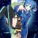 Anime Girls on Mekakucity Actors iPhone Wallpaper