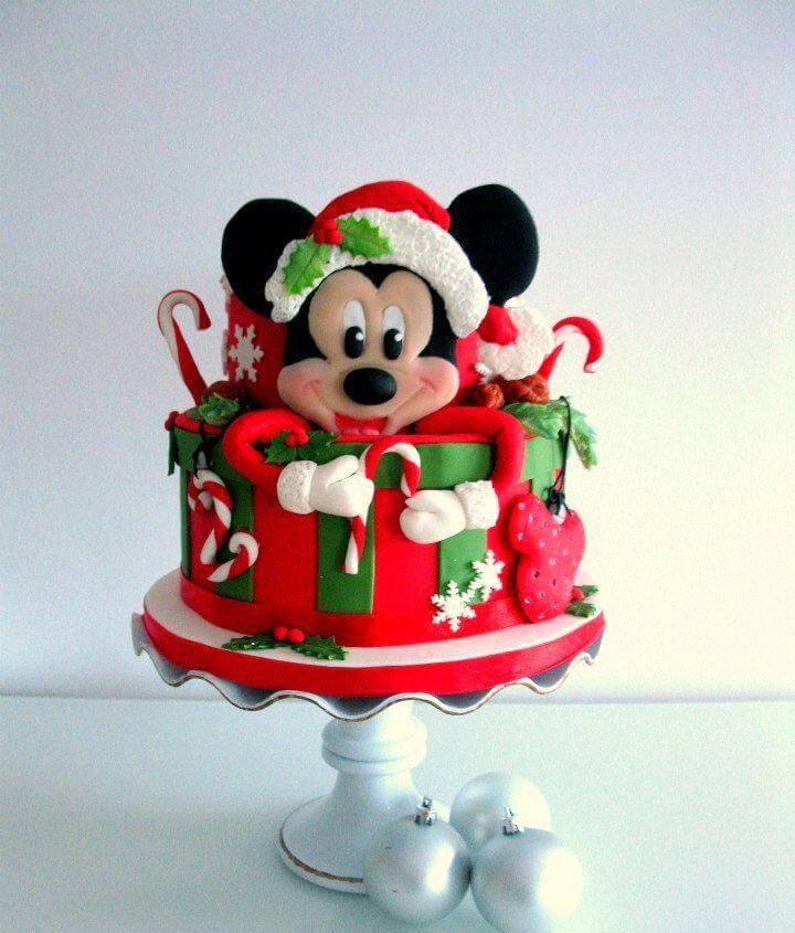Kerst taart Mickey