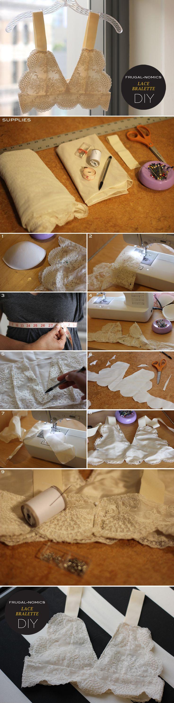 Frugal-nomics DIY : LACE BRALETTE | Frugal-nomics.com