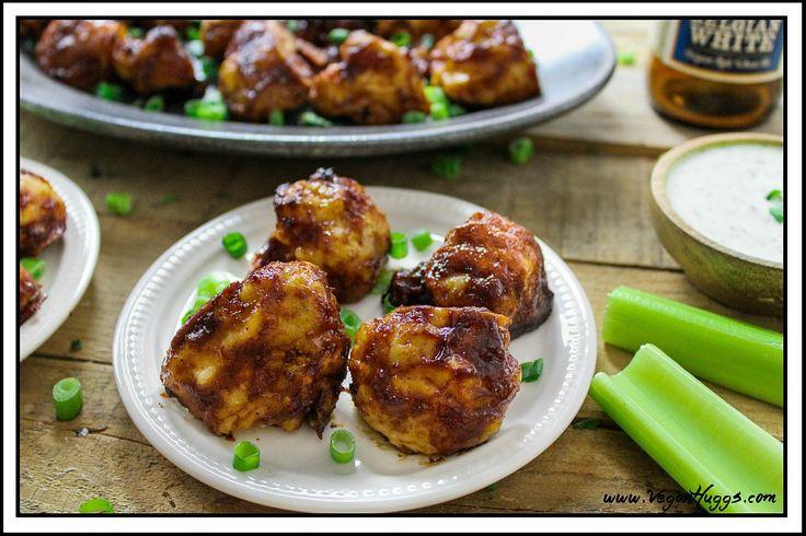 Finger Lickin' Good BBQ Cauliflower Wings (Vegan & GF) - http://veganhuggs.com/bbq-cauliflower-wings/