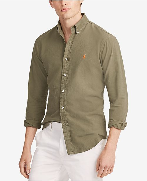 af75ca50e Green Button Down. White Jeans | Shirts in 2019 | Polo ralph lauren ...