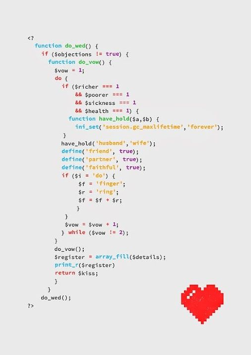 For Jason. My fiance is a programmer. I thought this was neat!