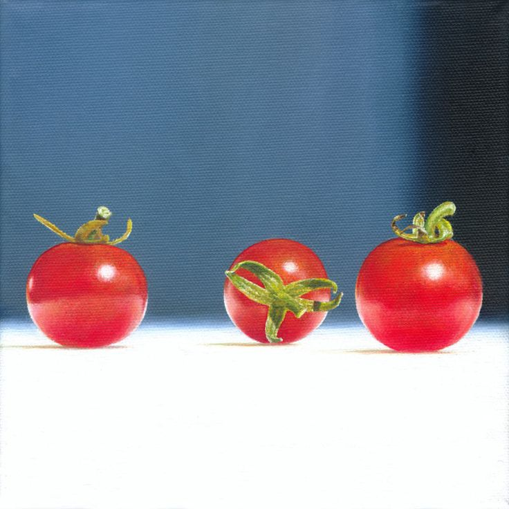 Christoph Eberle | Hyperrealistic painter | Still life | Tomatoes, 2011, 20 × 20 cm, oil on canvas