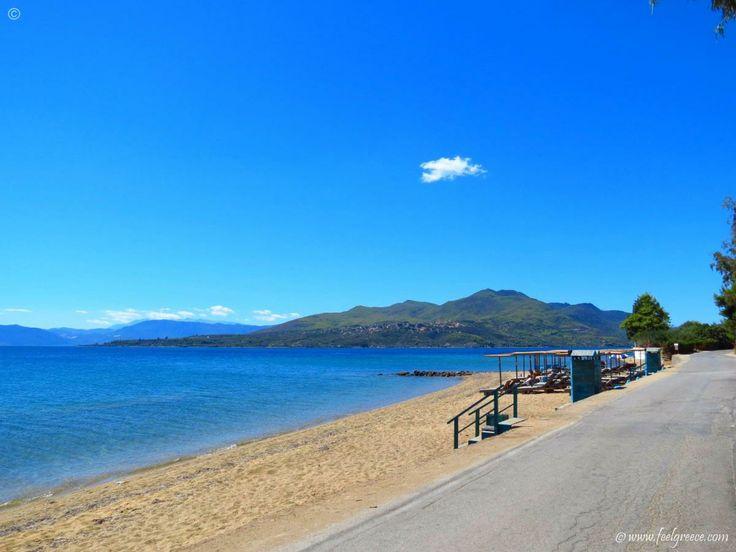 The sand, the sea and the cloud at Agios Nikolaos Beach, Evia