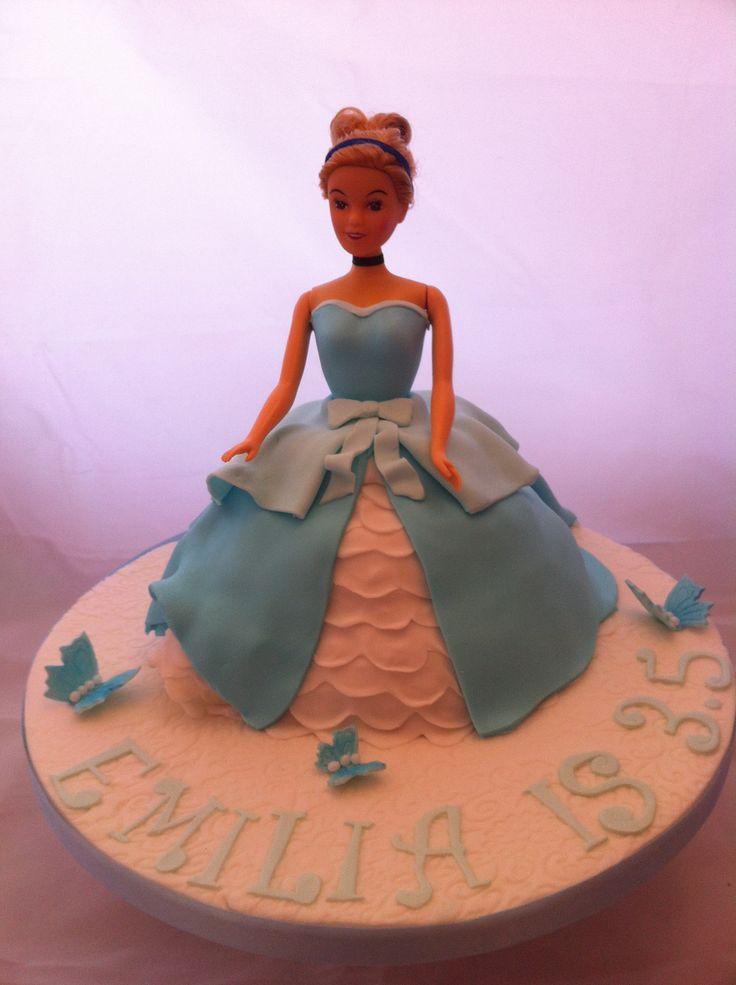 Cinderella doll cake by Fondant Fantastic