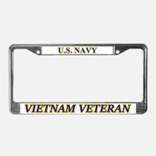 Us Navy Vietnam Veteran License Plate Frame for