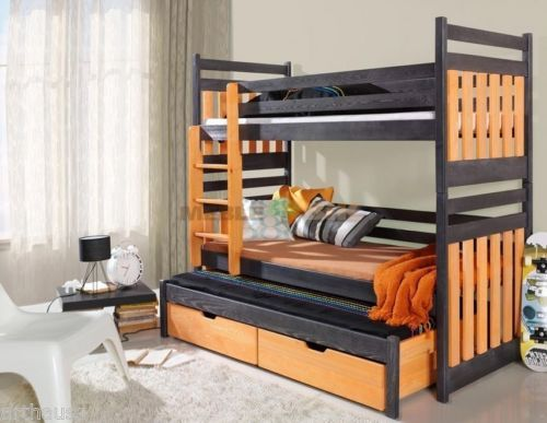 Brand New Kids Children Bunk Bed Sambor With Trundle Bed. Mattresses  Included