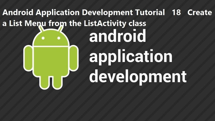 Android Application Development Tutorial 18 Create a List Menu from the List Activity class Android Application Development Tutorial 18 Create a List Menu from the List Activity class