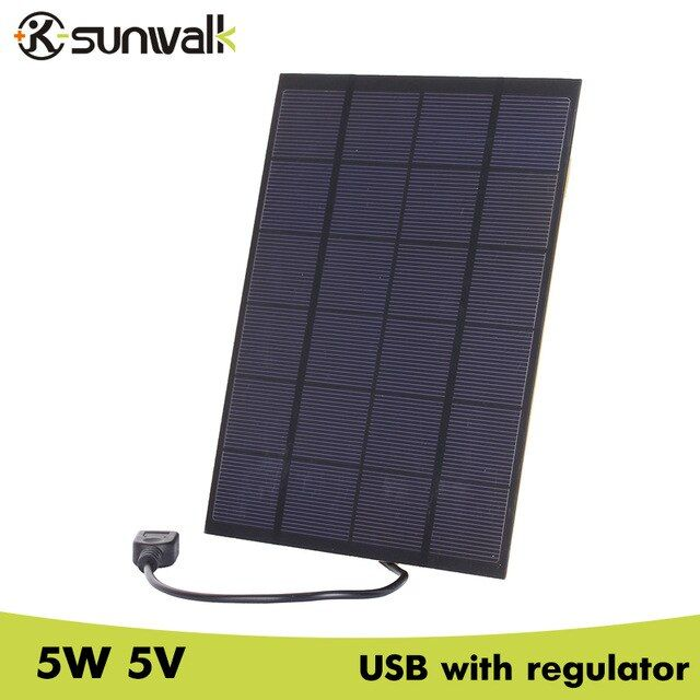 Sunwalk 5pcs 5w 5v Solar Cell Panel Charger Usb Output 830ma Portable Solar Charger For Mobile Phone With 5v Vo Solar Charger Portable Solar Cell Solar Charger