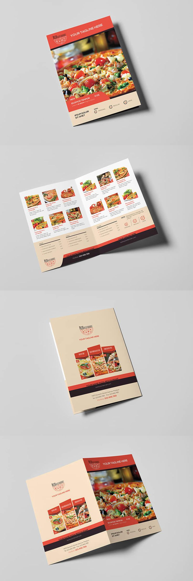 Pizza Restaurant - Menu Template PSD
