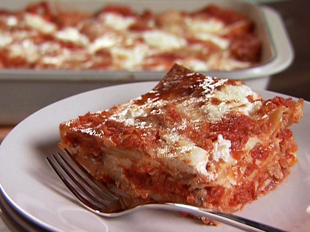 Sweet Sausage and Three Cheese Lasagna from FoodNetwork.com