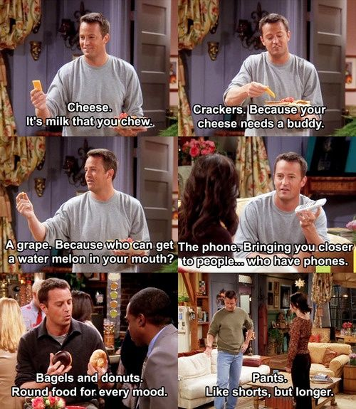 Chandelier explaining common objects.   friends tv show | Tumblr
