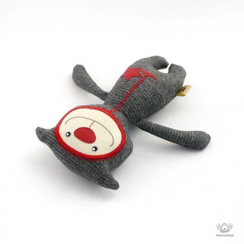 Mumushop - Szkafanderes törpemacska, Baba-mama-gyerek, Játék, Gyerekszoba, Baba, babaház, Barátságos, csíkos törpemacska ajánlja magát. 20 cm magas #cat #toy