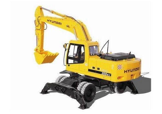 Hyundai R200w 7 Wheel Excavator Service Manual Hyundai Excavator Hydraulic Excavator
