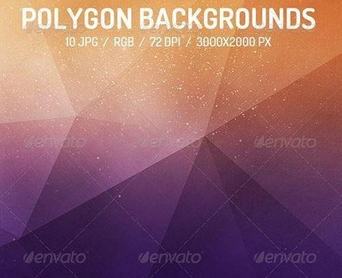 Абстрактные фоны – 10 Polygon Backgrounds 7690224