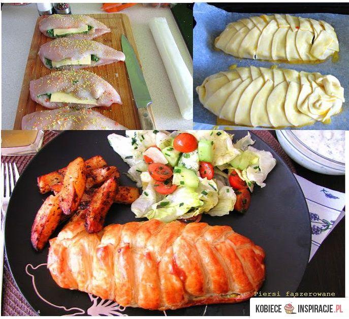 Faszerowana pierś z kurczaka w cieście francuskim - Kobieceinspiracje.pl