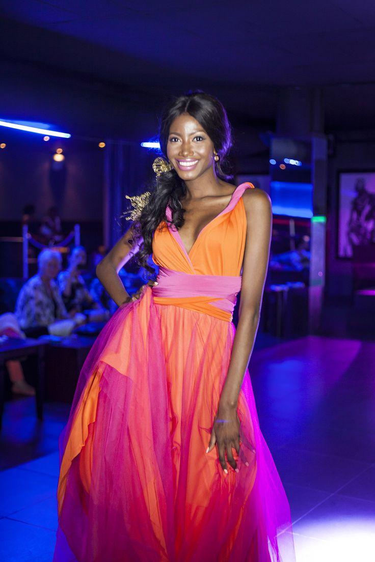 Two tone Infinity Dress South Africa International Orange and Cerise Pink! www.infinitybridalwear.co.za