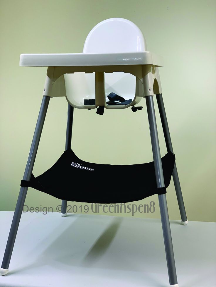 Black ikea antilop high chair organizer with pocket