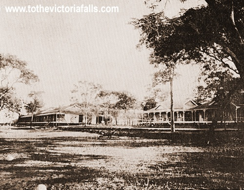 The early Victoria Falls Hotel