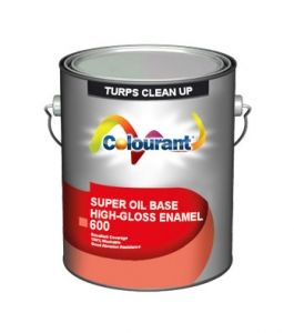 SUPER OIL BASE HIGH-GLOSS ENAMEL is based on alkyd resins and the most recent formulation available in paint industry with compatibility to various climates. This product provides a professional quality, high hide, mildew resistant alkyd finish with excellent stain removal.