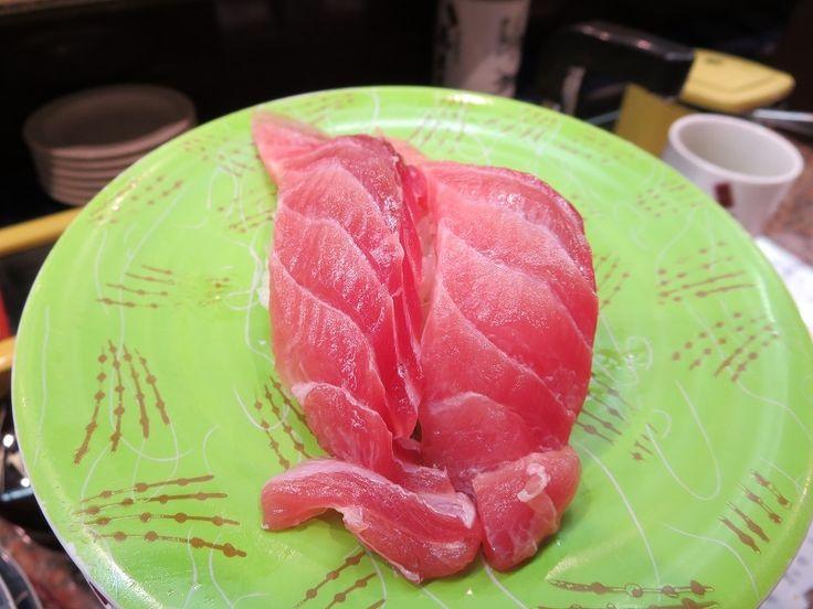 Tuna at Hanamachi, Revolving Sushi bar in Hokkaido, Japan