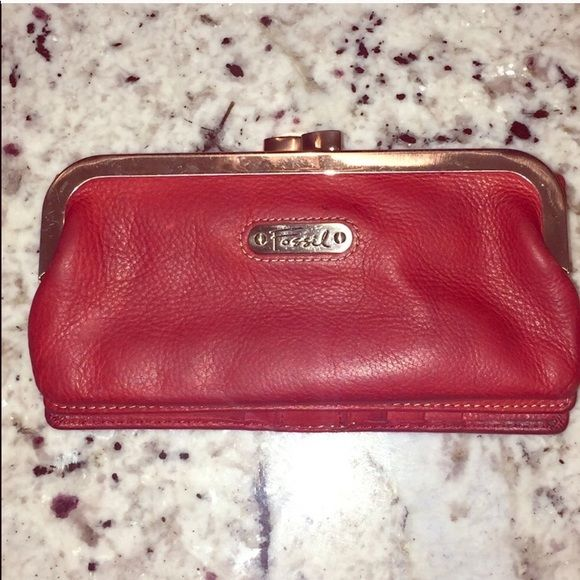 Fossil Handbags - Vintage Red Fossil wallet
