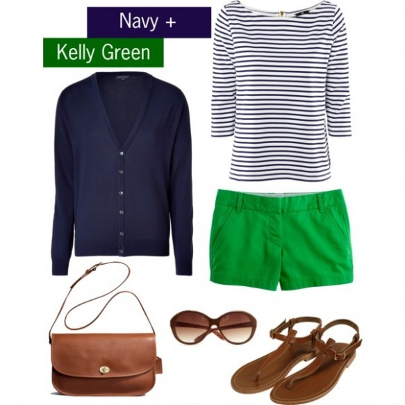 Navy + Kelly Green