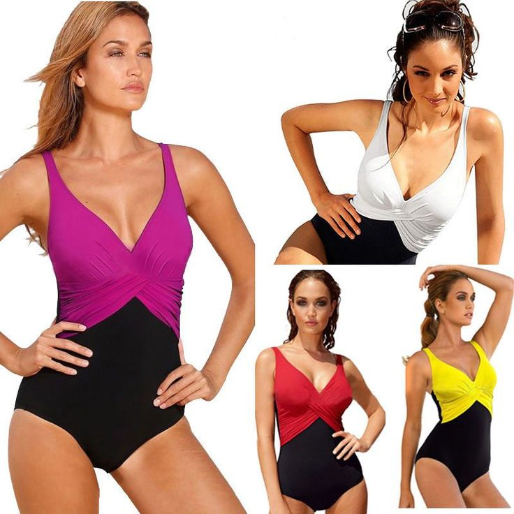 4XL Ladies one piece swimwear Women Monokini Bandage Halter Padded Bikini Bathing Swimsuit Swimwear bathing suit for big women  #vscocam #fashionblogger #dress #withoutfilter #fashionstyle #tbt #igers #LSN #copic #details