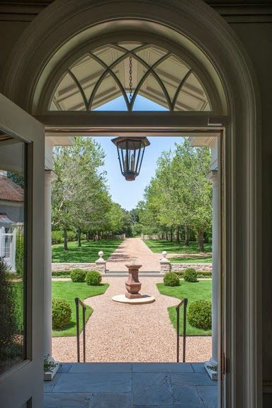 A beautiful entrance, and it frames the garden beautifully