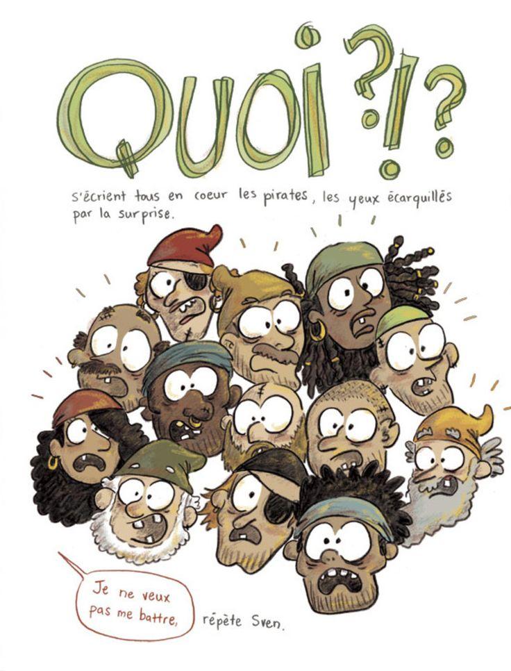 Sven le terrible - Pas de vacances pour les pirates extrait, album jeunesse, 400 coups, illustration, orbie, surprise  cover, kids book