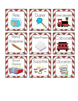 Classroom jobs that take up little space.