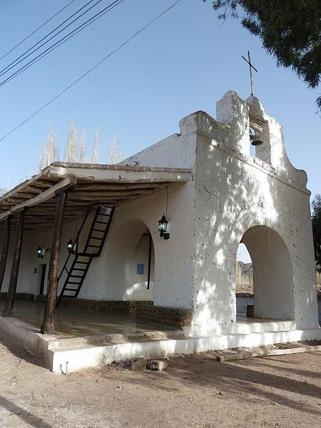 capilla de nuestra señora del Carmen, en pueblito de Calingasta, San Juan, Argentina