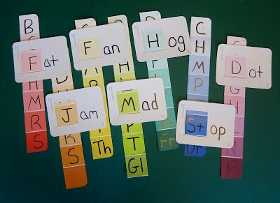 Joyfully Weary: Paint Chip Word Families--use lower case letter though