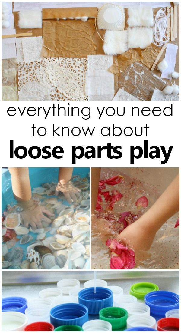 Everything You Need to Know About Loose Parts Play-Learn the how and why behind loose parts play for kids. Tips for getting started. Where to find materials and more! #preschool #kidsactivities