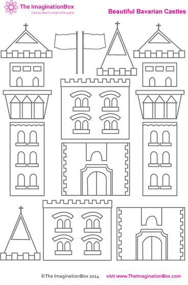 3 x een kasteel knutselen met papier, karton en wc rollen