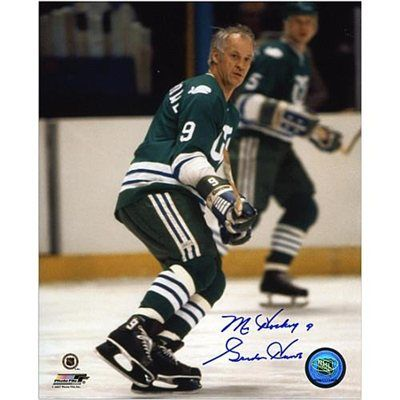 Gordie Howe Hartford Whalers Autographed 8'' x 10'' Wait For Puck Photograph with Mr. Hockey Inscription