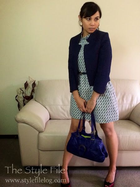In blue | The Style File  #workwear #navy #blue