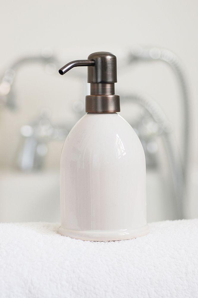 stylish ceramic soap dispenser soap