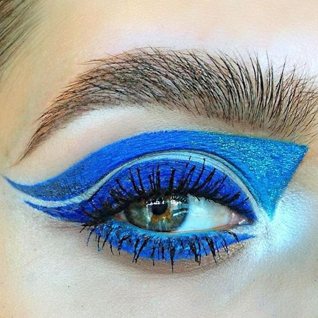 Sunday Blues #regram from @peace_love_alicia at M·A·C PacWest Orange County in California – created using Chromaline in Marine Ultra, Pro Longwear Paint Pot in Clearwater, Chromagraphic Pencil in Hi-Def Cyan, and Eye Shadow in Electric Eel, Atlantic Blue and Nylon.  #MACArtistChallenge #MyArtistCommunity #MACCosmetics