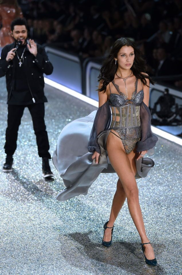 Dec. 2016 - Abel Tesfaye (The Weeknd) and Bella Hadid who recently broke up with each other, both had to work at the 2016 Victoria's Secret Fashion Show.