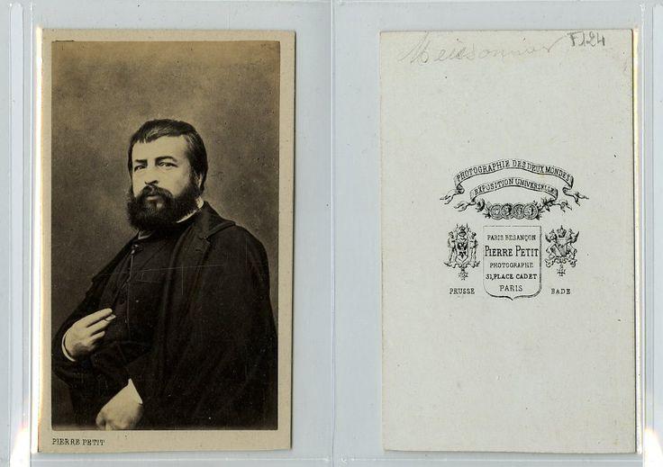 P. Petit, Le peintre et sculpteur français Ernest Meissonier    #CDV #portraits #Musiciens_Peintres_