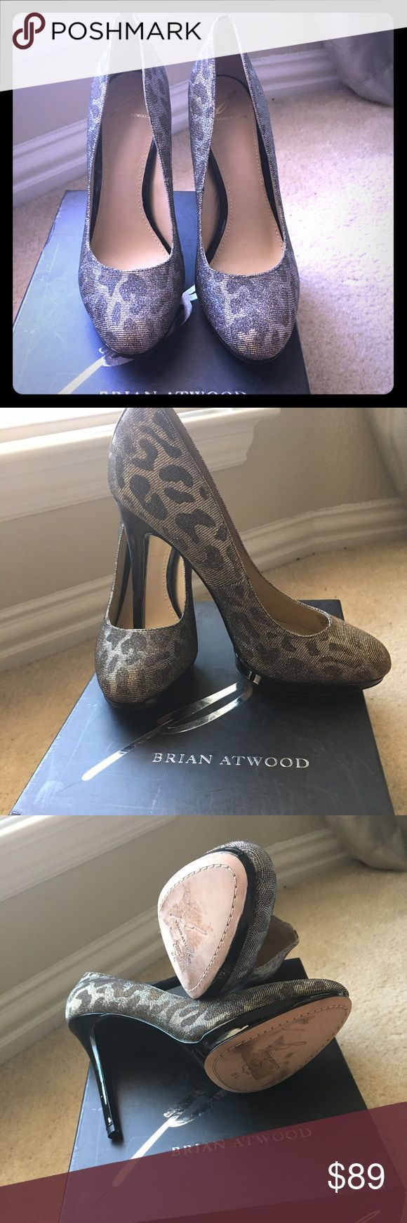 Brian Atwood bffredrique silver glitter pumps 8.5 Beautiful pair of classic Brian Atwood. Never worn, new with box and dust bag. B Brian Atwood Shoes Heels