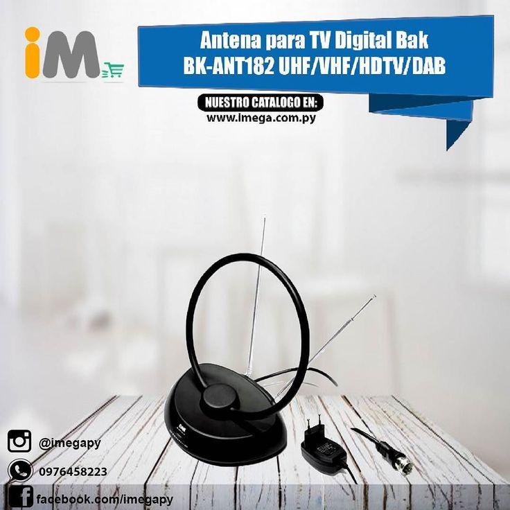 MIRA NUESTRO CATALOGO EN: www.imega.com.py Antena para TV Digital Bak BK-ANT182 UHF/VHF/HDTV/DAB Interior  Negro Precio: 93.000 Consultas al 0976458223 Más información del producto aquí: http://imega.com.py/producto/antena-para-tv-digital-bak-bk-ant182-uhfvhfhdtvdab-interior-negro/ #imegapy