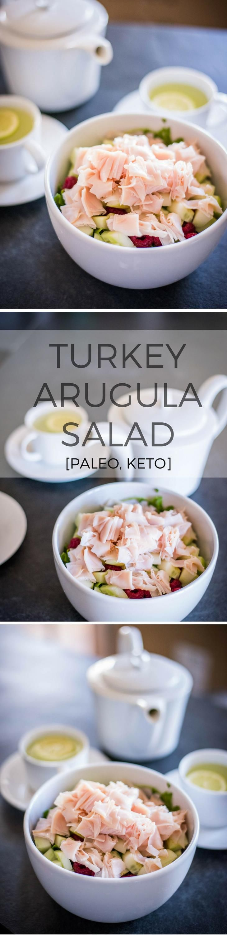 Simple Turkey Arugula Salad Recipe [Paleo, Keto]