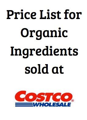Check out this list of affordable organic products sold at Costco (including prices) to help you tighten your budget when buying organic!   5DollarDinners.com
