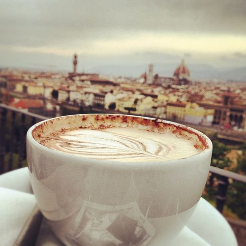 Florence and Coffee . . . a packaged deal!
