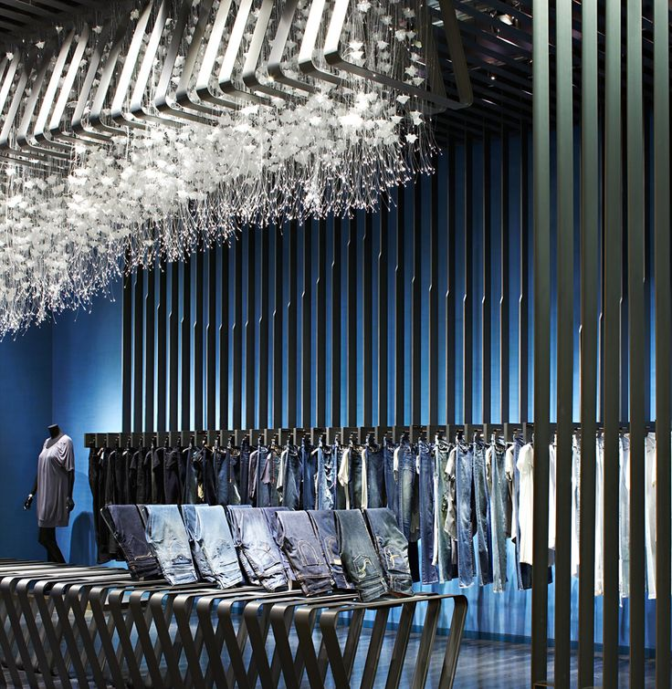 182 best lighting installation images on pinterest art a unique installation incorporating the flora cascade light with a bespoke ceiling fitting designed by yabu pushelberg at the lotte department store in mozeypictures Images