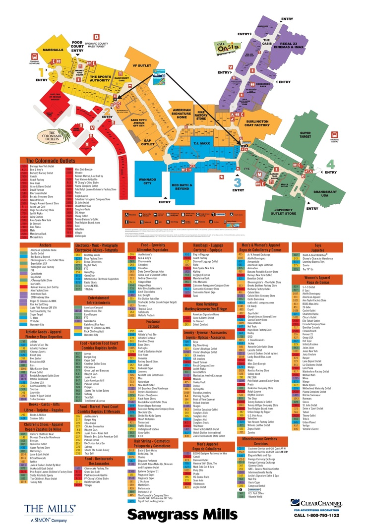 Sawgrass Mills Mall Going To Need This Map Next Week My Style Pinterest Milling