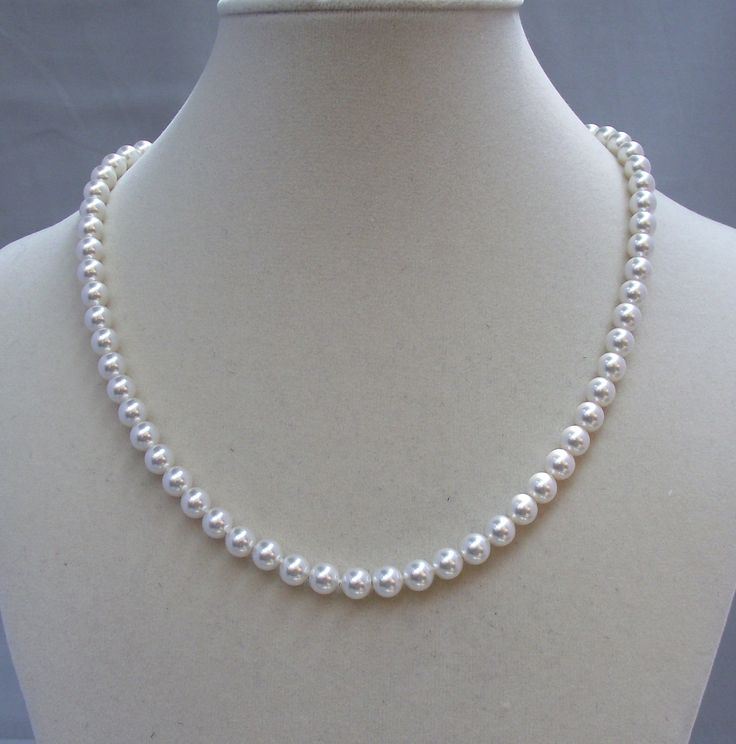 Emily: The Classic Single Strand Pearl Necklace