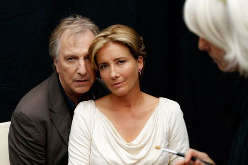 """Alan Rickman and Emma Thompson. I'm guessing this is from 2010 - around the time of """"Song of Lunch."""""""
